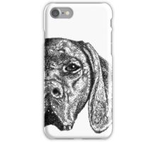 Pointer Dog Ink Drawing iPhone Case/Skin