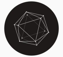 Icosahedron - black by creativecore