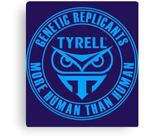 TYRELL CORPORATION - BLADE RUNNER (BLUE) Canvas Print