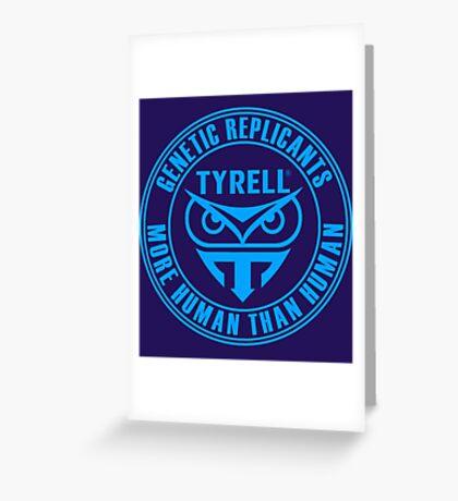 TYRELL CORPORATION - BLADE RUNNER (BLUE) Greeting Card