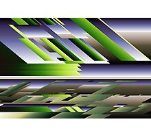 Abstract Purple Green Photographic Print
