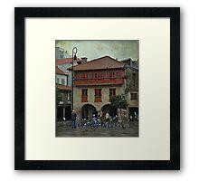 Rain and doves Framed Print