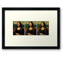 Contouring: Mona Lisa Framed Print