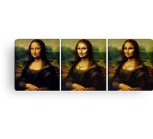 Contouring: Mona Lisa Canvas Print