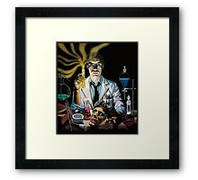 Re-Animator science fiction cover Framed Print