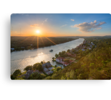 Austin Texas Images - Late May Sunset over Mount Bonnell 1 Canvas Print