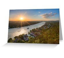 Austin Texas Images - Late May Sunset over Mount Bonnell 1 Greeting Card