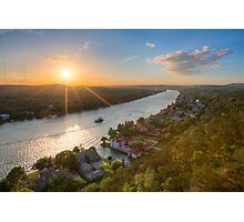 Austin Texas Images - Late May Sunset over Mount Bonnell 1 Photographic Print