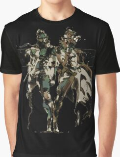 Metal Gear Solid - Solid & Liquid Snake Graphic T-Shirt