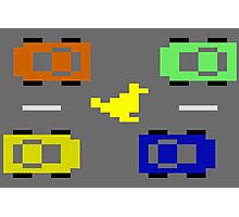 ATARI FREEWAY CAR TRAFFIC Photographic Print