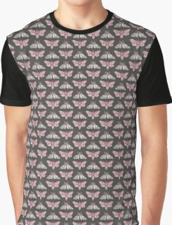Moth pattern on dark grey Graphic T-Shirt