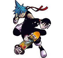 Soul Eater - Death The Kid & Black Star Photographic Print