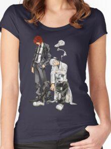 Soul Eater - Spirit Albarn & Franken Stein Women's Fitted Scoop T-Shirt