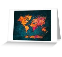 world map art series Greeting Card