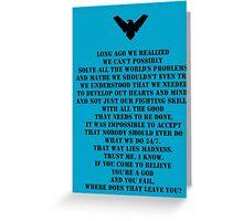 Nightwing 3 Greeting Card