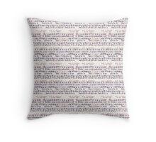 Vintage Music on White Throw Pillow