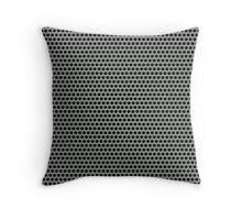 Silvery Metal Mesh Throw Pillow