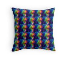 Rainbow Tissue Paper Throw Pillow