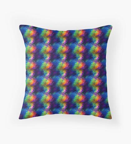 Rainbow Tissue Paper Throw Pillow