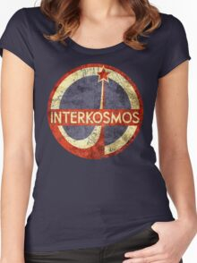 CCCP Interkosmos V01 Women's Fitted Scoop T-Shirt