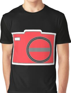 Shutterbug-Red Graphic T-Shirt