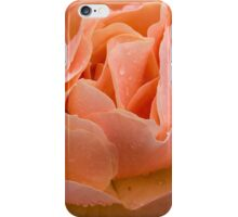 Peach Rose with Raindrops iPhone Case/Skin