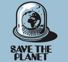 World Snow Globe - Save the Planet One Piece - Short Sleeve