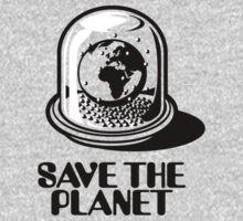 World Snow Globe - Save the Planet One Piece - Long Sleeve
