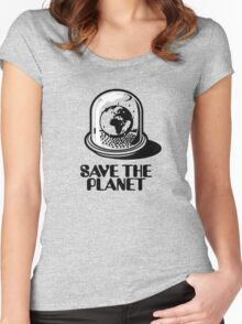 World Snow Globe - Save the Planet Women's Fitted Scoop T-Shirt