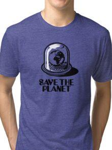 World Snow Globe - Save the Planet Tri-blend T-Shirt