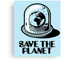 World Snow Globe - Save the Planet Canvas Print