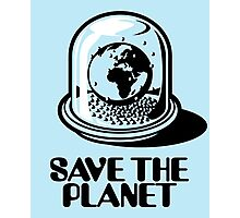 World Snow Globe - Save the Planet Photographic Print