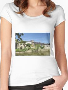 The Town of Bradford on Avon, Wiltshire, United Kingdom. Women's Fitted Scoop T-Shirt