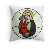 Antique Religious Art Throw Pillow