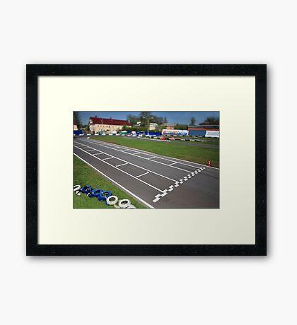 start line Tilt Framed Print
