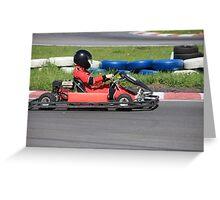 Go-cart Race Greeting Card