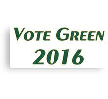 Vote Green 2016 Canvas Print