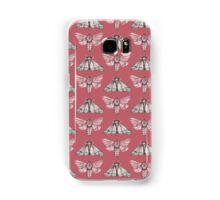 Moth pattern on light red Samsung Galaxy Case/Skin