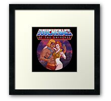 Douchebags of the Universe Framed Print