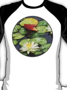 Water Lily Pond in Autumn T-Shirt