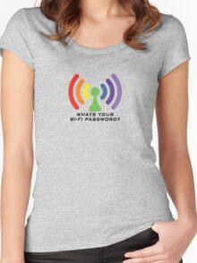 Bi-Fi (LIGHT BG) Women's Fitted Scoop T-Shirt