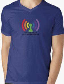 Bi-Fi (LIGHT BG) Mens V-Neck T-Shirt