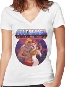 Douchebags of the Universe Women's Fitted V-Neck T-Shirt