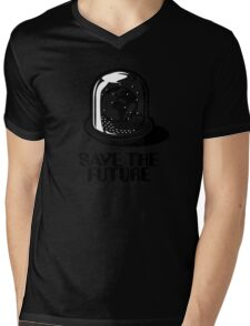 World Snow Globe - Save the Future Mens V-Neck T-Shirt