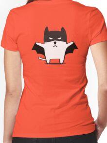 Batman Cat Women's Fitted V-Neck T-Shirt