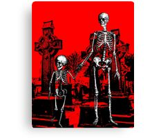 Skeleton family walk Canvas Print
