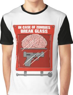 In Case of Zombies Break Glass Graphic T-Shirt