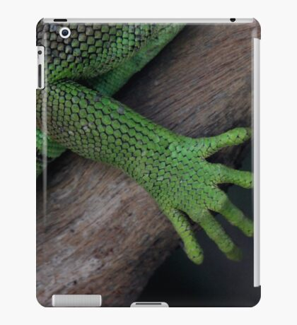 Iguana ~ these feet have been places iPad Case/Skin