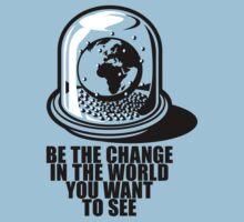 World Snow Globe - Gandhi Philosophy Baby Tee