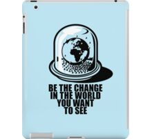 World Snow Globe - Gandhi Philosophy iPad Case/Skin